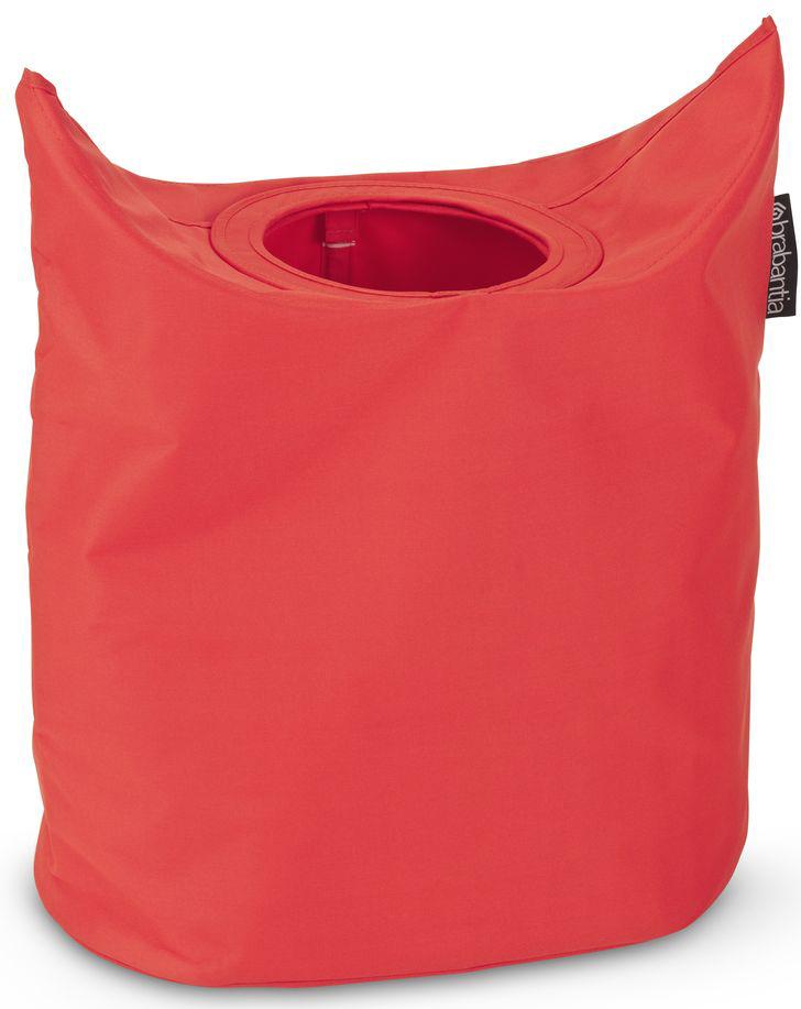 Сумка для белья Brabantia, овальная, цвет: красный, 50 л. 102523102523Большая вместимость - 50 литров.Удобно закладывать и доставать белье - широкое открытие.Отверстие для быстрой загрузки белья - просто сложите магнитные ручки.Практичная: большие удобные ручки для переноски.Экономия места: складывается для хранения.