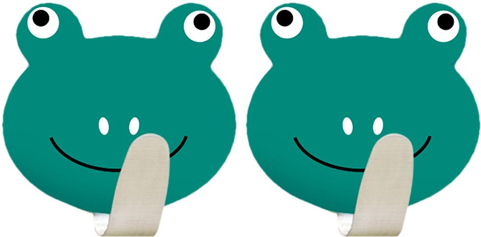 """Крючок Tatkraft """"Frogs"""" - набор из двух крючков на самоклеящийся основе, из нержавеющей стали. Надежная фиксация. Выдерживает вес до 5 кг."""