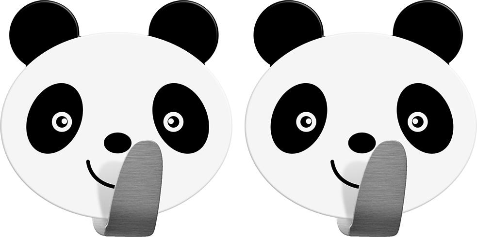 Крючок Tatkraft Panda, самоклеящийся, 2 шт20078Крючок Tatkraft Panda - самоклеящийся крючок из нержавеющей стали. Надежная фиксация. Выдерживает вес до 5 кг.