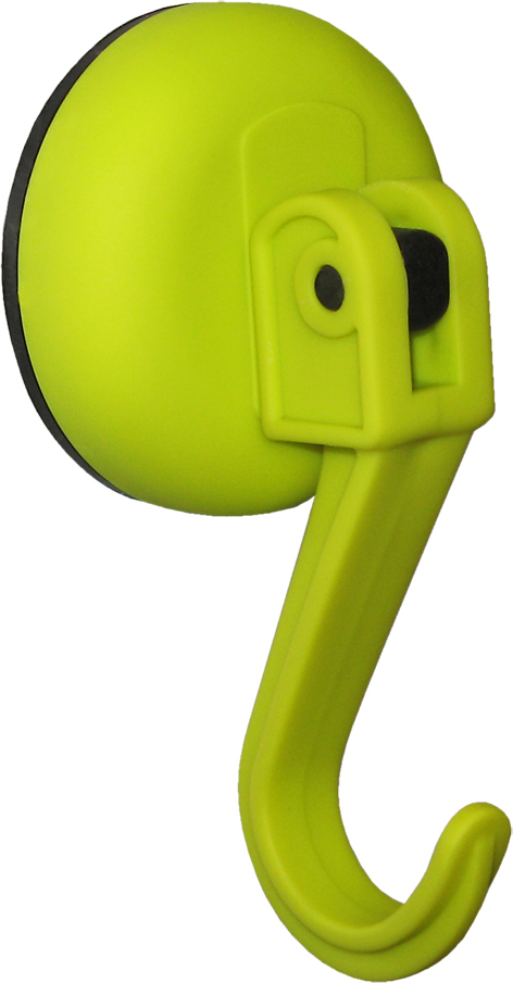 Крючок Tatkraft Kalev Magic Hook, на вакуумной присоске, цвет: зеленый