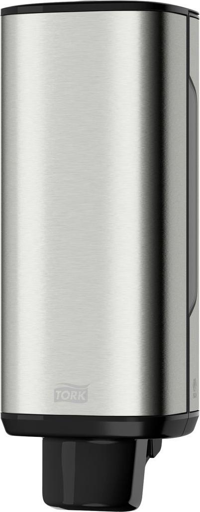 Диспенсер для мыла Tork, цвет: металл. 460010460010Диспенсер Tork обладает уникальными характеристиками: - Сочетание нержавеющей стали и пластика обеспечивает надежность и легкость диспенсера; - На поверхности не остается отпечатков пальцев и мыльных разводов; - Два режима работы замка: закрывается на ключ или работает как кнопка; - Смотровые окошки для быстрого контроля наличия расходного материала; - Высочайший уровень гигиены благодаря одноразовым картриджам; - Экономичный расход - одна порция составляет 0,4 мл мыла-пены; - В диспенсере есть возможность закрепить визитную карточку.