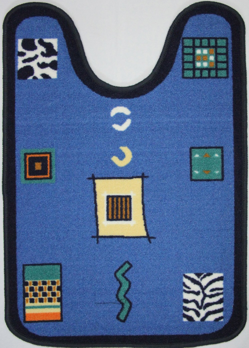 Коврик для ванной MAC Carpet Розетта, цвет: синий, 57 х 80 см коврик для ванной 50x50 loks цвет синий