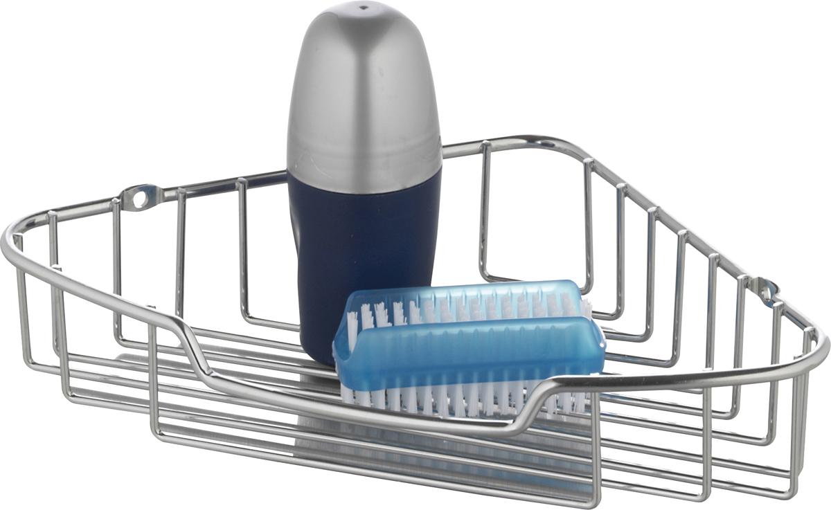 """Полка для ванной Axentia """"Escala"""" изготовлена из стали с качественным хромированным покрытием, которое на долго защитит изделие от ржавчины в условиях высокой влажности в ванной комнате. Изделие имеет угловую конструкцию и крепится на стену с помощью шурупов (входят в комплект).Данное изделие изящно дополнит интерьер вашей ванной комнаты.Размер полки: 20 х 20 х 45 см."""