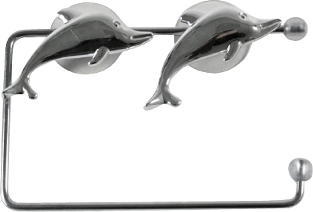 Держатель для туалетной бумаги Top Star Silver Dolphin, на присосках291318Держатель для туалетной бумаги Top Star Silver Dolphin изготовлен извысококачественной стали с хромированным покрытием,которое устойчиво квлажности и перепадам температуры.Держатель поможет оформить интерьер в выбранном стиле,разбавляяпространство туалетной комнаты различными элементами.Он хорошо впишется влюбой интерьер, придавая ему черты современности.Для большего удобства изделие крепится к поверхностям спомощью двухприсосок (входят в комплект), что даетвозможность принеобходимости менять их месторасположение.