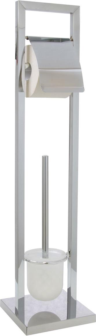 Гарнитур для туалета Axentia, с держателем для бумаги, 18 х 18 х 75 см282254Туалетный гарнитур с держателем для бумаги Axentia выполнен в стильном дизайне из высококачественной хромированной стали, устойчивой к проявлениям коррозии. Состоит из держателя туалетной бумаги с крышкой, ершика со стальной ручкой, белой щеткой с жестким густым ворсом и подставки. Для высокой устойчивости у гарнитура имеется утяжеленное квадратное основание. Удобен в использовании. Высококачественные материалы, а так же прочные крепления позволят наслаждаться покупкой долгие годы. Изделие приятно дополнит интерьер вашей туалетной комнаты.Высота гарнитура: 75 см.