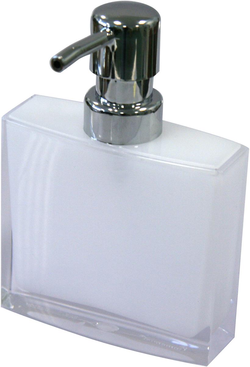 """Дозатор для жидкого мыла Axentia """"Priamos"""" изготовлен из высококачественного акрила. Акрил - это долговечный, прочный и легкий в уходе материал. Изделие прекрасно дополнит интерьер вашей ванной комнаты или кухни.Высота дозатора: 15 см."""