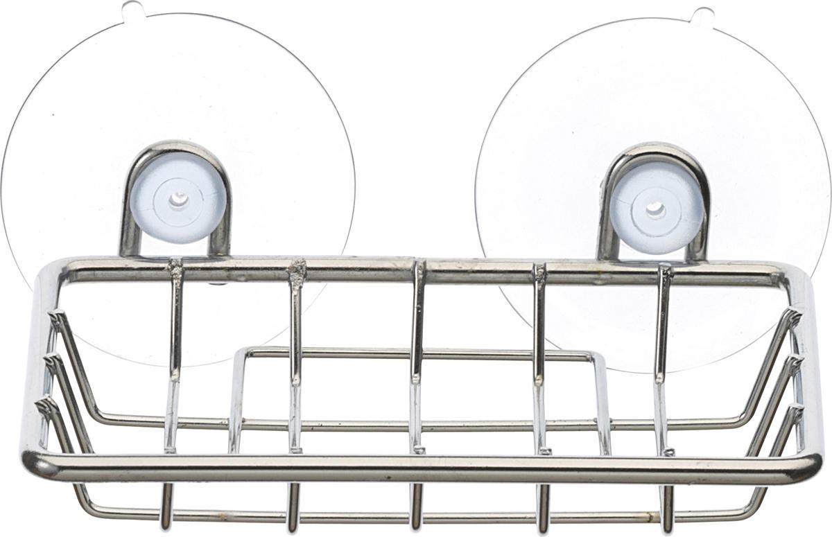 Мыльница Top Star изготовлена из высококачественной хромированной стали, устойчивой к высокой влажности.. Изделие крепится к стене при помощи двух присосок.  Такая мыльница прекрасно подойдет для ванной комнаты или кухни.