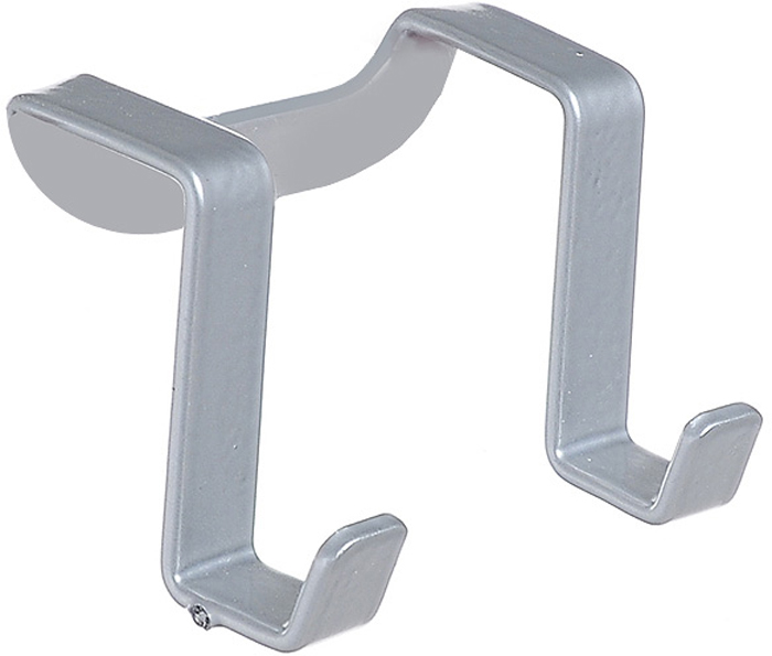 """Двойной крючок Metaltex """"Galileo"""" предназначен для подвешивания различных кухонных принадлежностей или полотенец. Он выполнен из высококачественной стали со специальным, политермическим покрытием серебристого цвета, которое не повредит вашу мебель. Вы можете закрепить крючок на внутренней или внешней части дверцы кухонной мебели, не прибегая к сверлению или приклеиванию.   Характеристики:  Металл:  сталь. Общий размер крючка (В х Ш х Д):  4 см х 5,8 см х 4 см. Ширина дверцы: 2,2 см. Производитель:  Италия. Артикул:  35.06.02."""