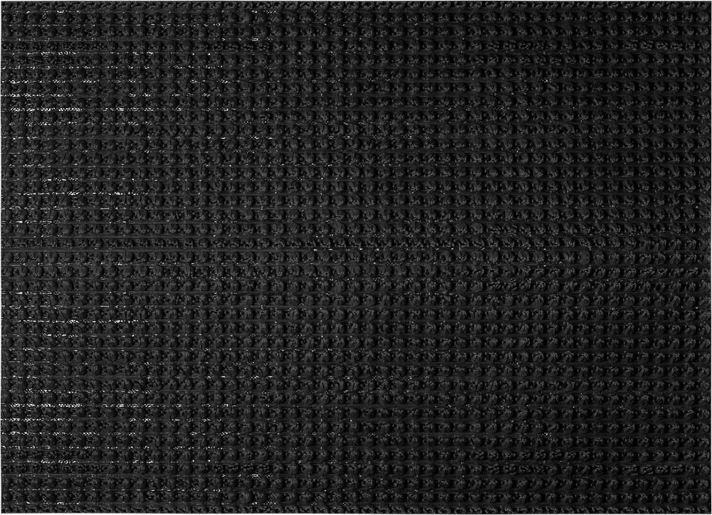 Коврик придверный Vortex Травка, противоскользящий, цвет: черный, 45 х 60 см коврик придверный 35х60 см черный свинка vortex 20028