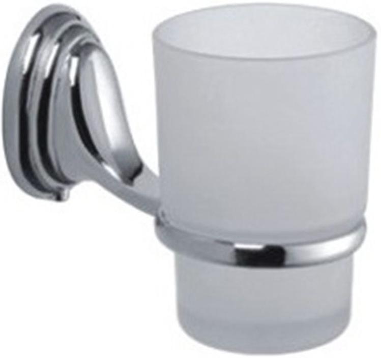Стакан для ванной комнаты Vanstore Овал, с держателем, 6 х 16 х 18,5 см полка для ванной vanstore с держателем для полотенец 60 см х 24 5 см х 18 см