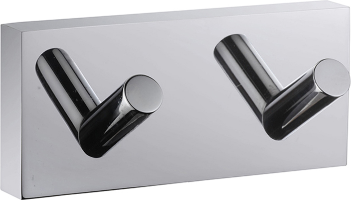 """Двойной крючок Iddis """"Edifice"""" предназначен для  подвешивания полотенец, халата и многого другого в  ванной комнате. Он выполнен из латуни.  Хромированное покрытие придает изделию яркий  металлический блеск и эстетичный внешний вид. Крепление входит в комплект."""