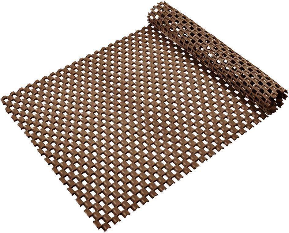 Коврик-дорожка Vortex Шашки, противоскользящий, цвет: коричневый, 0,9 х 10 м спб резиновая дорожка рулон коврик