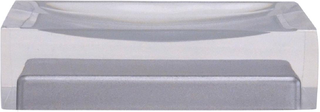 Мыльница Ridder Colours, цвет: серый22280307Изделия данной серии устойчивы к ультрафиолету, т.к. изготавливаются из полирезины.Экологичная полирезина - это твердый многокомпонентный материал на основе синтетической смолы, с добавлением каменной крошки и красящих пигментов.