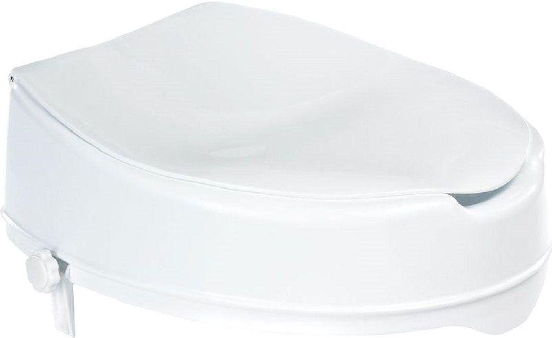 Высококачественное немецкое сиденье для унитаза с крышкой выполнено из пластика, минимизирует напряжение при посадке и подъеме.  Конструкция не требует монтажа.  Предусмотрена фиксация для внутренней и внешней сторон унитаза.  Полезная высота сиденья - 100 мм.  Максимальная нагрузка на опору - 100 кг.