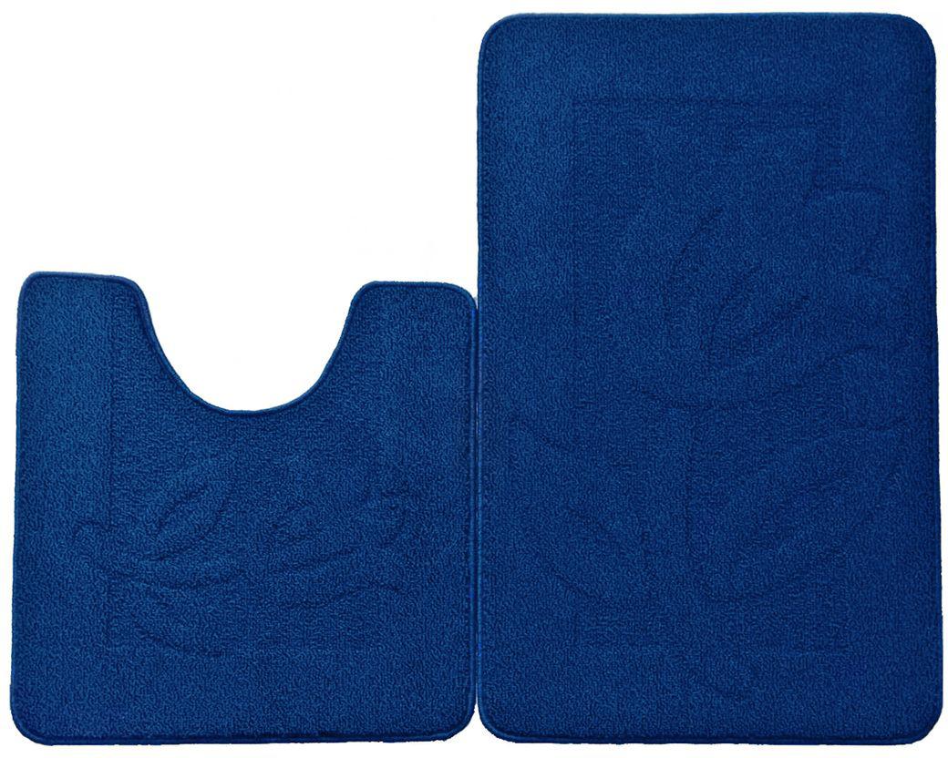 Набор ковриков для ванной комнаты Kamalak Tekstil, цвет: голубой, 2 штУКВ-1026Ковры-паласы Kamalak Tekstil выполнены из полипропилена. Ковры обладают хорошими показателями теплостойкости и шумоизоляции. Являются гиппоалергенными. За счет невысокого ворса ковры легко чистить. Вам придется по душе широкая гамма цветов и возможность гармонично оформить интерьер. Практичный и устойчивый к износу ворс - от постоянного хождения не истирается, не накапливает статическое электричество. Структура волокна в полипропиленовых моделях гладкая, поэтому грязь не может въесться, на ворсе она скапливается с трудом. Полипропилен не впитывает влагу, отталкивает водянистые пятна. Уход: Самый простой способ избавить изделие от грязи - пропылесосить его с обеих сторон (лицевой и изнаночной). Влажная уборка с применением шампуней и моющих средств не противопоказана. Если шерсти и шёлку универсальные чистящие составы не подходят, то для синтетики они придутся в самый раз. Хранить их нужно рулоном, не складывая салфеткой.При надлежащем уходе синтетический ковёр прослужит долго, не утратив ни яркости узора, ни блеска ворса, ни его упругости.