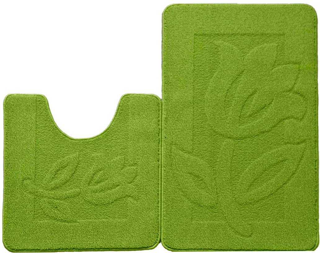 Набор ковриков для ванной комнаты Kamalak Tekstil, цвет: зеленый, 2 шт. УКВ-1028УКВ-1028Ковры-паласы Kamalak Tekstil выполнены из полипропилена. Ковры обладают хорошими показателями теплостойкости и шумоизоляции. Являются гиппоалергенными. За счет невысокого ворса ковры легко чистить. Вам придется по душе широкая гамма цветов и возможность гармонично оформить интерьер. Практичный и устойчивый к износу ворс - от постоянного хождения не истирается, не накапливает статическое электричество. Структура волокна в полипропиленовых моделях гладкая, поэтому грязь не может въесться, на ворсе она скапливается с трудом. Полипропилен не впитывает влагу, отталкивает водянистые пятна. Уход: Самый простой способ избавить изделие от грязи - пропылесосить его с обеих сторон (лицевой и изнаночной). Влажная уборка с применением шампуней и моющих средств не противопоказана. Если шерсти и шёлку универсальные чистящие составы не подходят, то для синтетики они придутся в самый раз. Хранить их нужно рулоном, не складывая салфеткой.При надлежащем уходе синтетический ковёр прослужит долго, не утратив ни яркости узора, ни блеска ворса, ни его упругости.