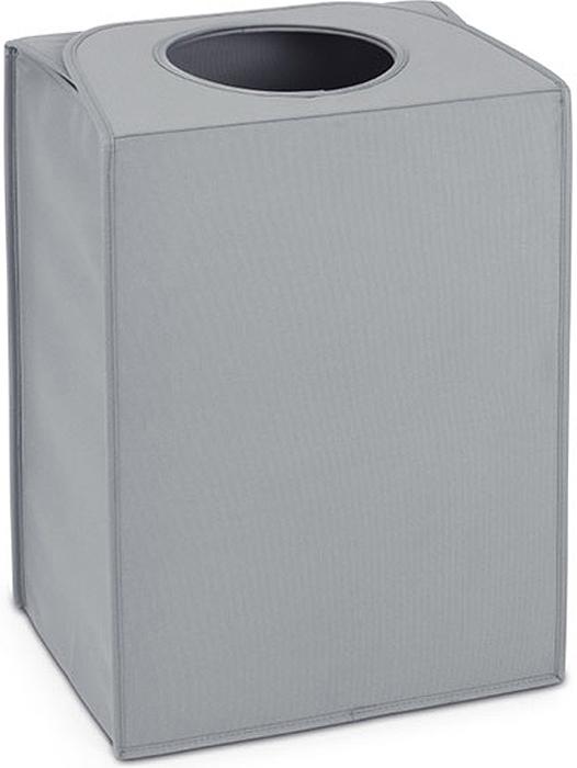 Сумка для белья Brabantia, прямоугольная, цвет: серый, 55 л. 104282104282Большая вместимость – 55 литров.Удобно закладывать и доставать белье – широкое открытие.Отверстие для быстрой загрузки белья – просто сложите магнитные ручки.Практичная – большие удобные ручки для переноски.Экономия места – складывается для хранения.