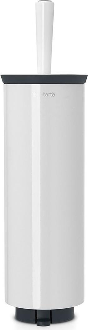 Ершик туалетный Brabantia Profile, с держателем, цвет: белый. 483325483325Ерш Brabantia Profile можно крепить к стене с помощью поставляемого в комплекте кронштейна. Так же изделие можно использовать и на полу, благодаря основанию с противоскользящими свойствами, которое предотвращает скольжение по плитке.Удобная и качественная очистка благодаря специальной форме ершика – идеальная чистота даже под ободом унитаза.Ершик эстетично спрятан под крышкой. Благодаря наличию съемного внутреннего стакана изделие гигиенично и удобно в очистке.Изделие легко снимается с настенного кронштейна для тщательной очистки поверхности стены.