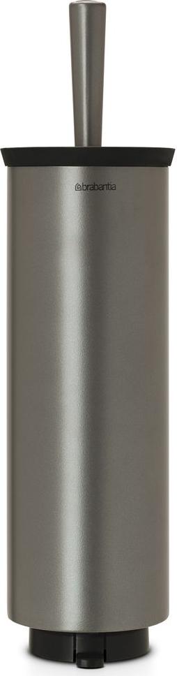 Ершик туалетный Brabantia Profile, с держателем, цвет: платиновый. 483301483301Устойчивость к коррозии – идеальное решение для ванной или туалетной комнаты. Подходит для крепления к стене – экономия места. Кронштейн в комплекте. Можно использовать на полу – нескользящее основание. Ершик эстетично спрятан под крышкой – всегда опрятный вид. Легко снимается с настенного кронштейна для тщательной очистки поверхности стены. Благодаря наличию съемного внутреннего стакана изделие гигиенично и удобно в очистке. Идеальная чистота даже под ободом унитаза – специальной форме ершика.