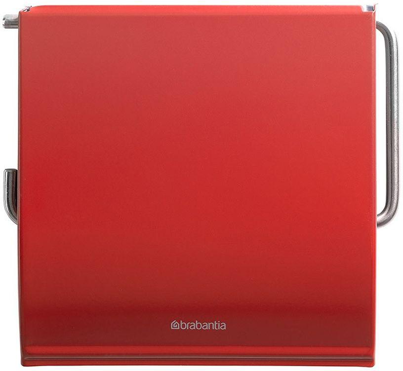 Держатель для туалетной бумаги Brabantia Classic, цвет: красный. 107863107863Устойчивость к коррозии – идеальное решение для ванной или туалетной комнаты. Держатель для рулона может крепиться как с правой, так и с левой стороны. Изготовлен из высококачественной нержавеющей стали с коррозионностойким покрытием или из хромированной стали. Крепежная пластина из пластика. Превосходно сочетается с туалетным ершиком, мусорными баками и другими изделиями Brabantia.
