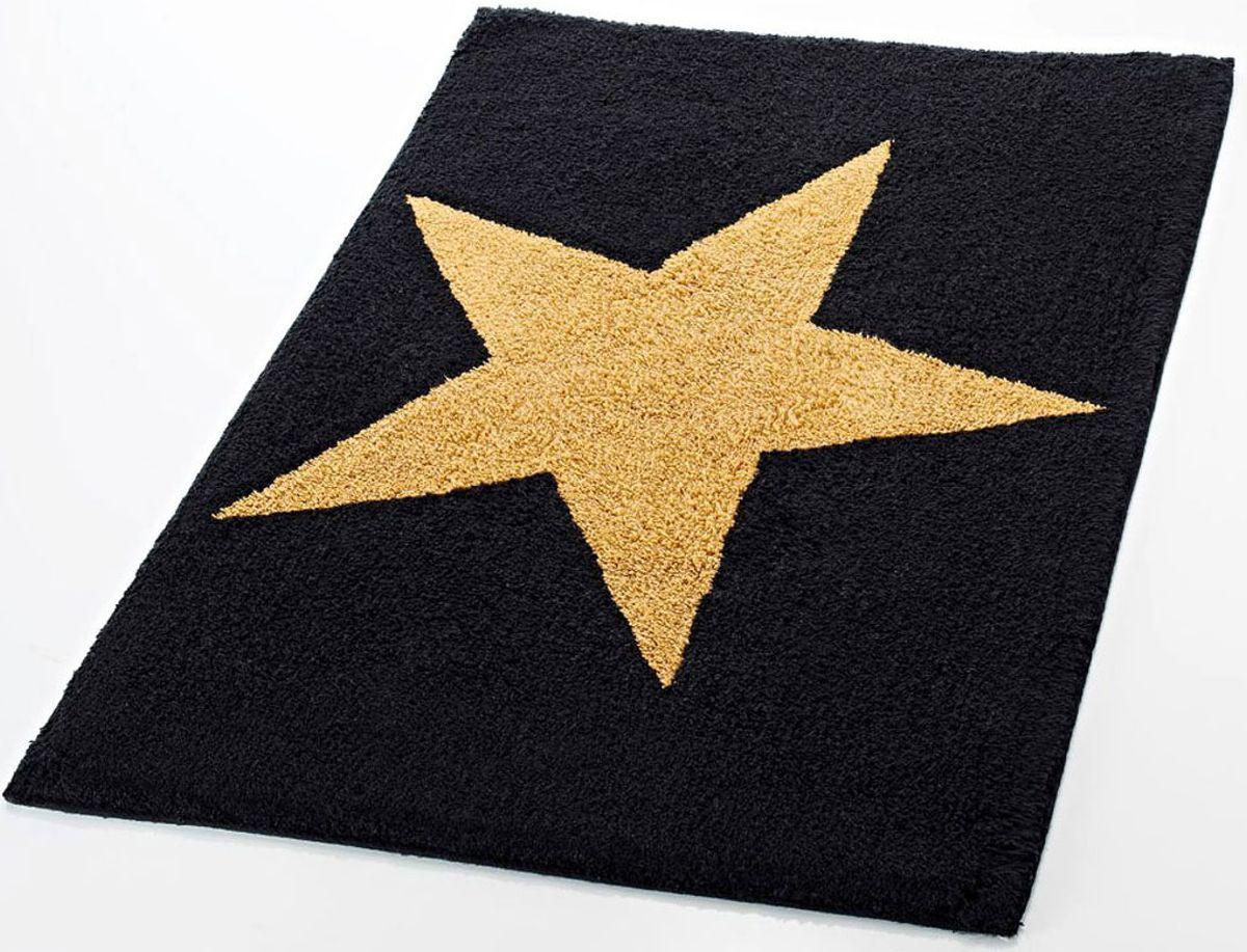 Коврик для ванной комнаты Ridder Star, цвет: черный, 50 х 55 см712804Высококачественный коврик Ridder Star - подарок для ваших ножек. Состав: 100% микроволокно из акрила. Подложка: латекс. Стирать при щадящем режиме 30°С. Можно сушить в сушильной машине. Не подвергать химической чистке. Не гладить.