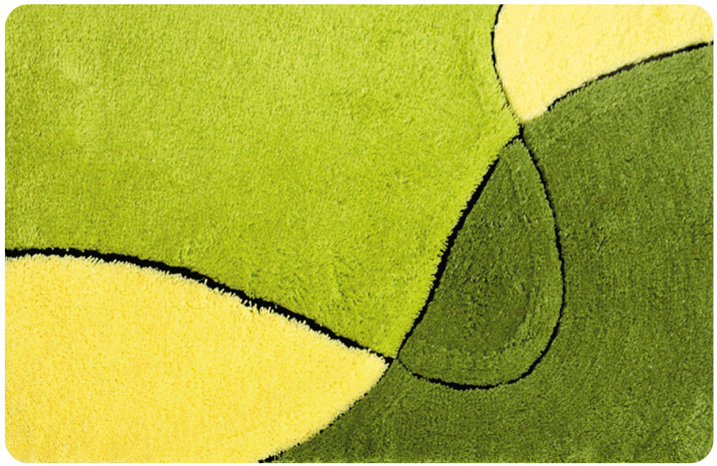 Коврик для ванной Iddis Sunny left, цвет: зеленый, 70 х 120 см коврик iddis 402a580i12