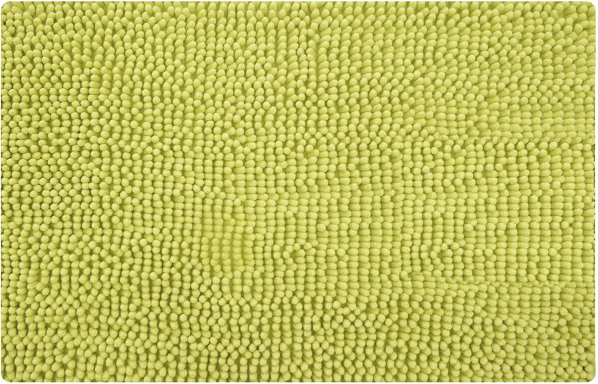 Коврик для ванной Iddis Green Leaf, цвет: зеленый, 50 х 80 см коврик iddis 402a580i12