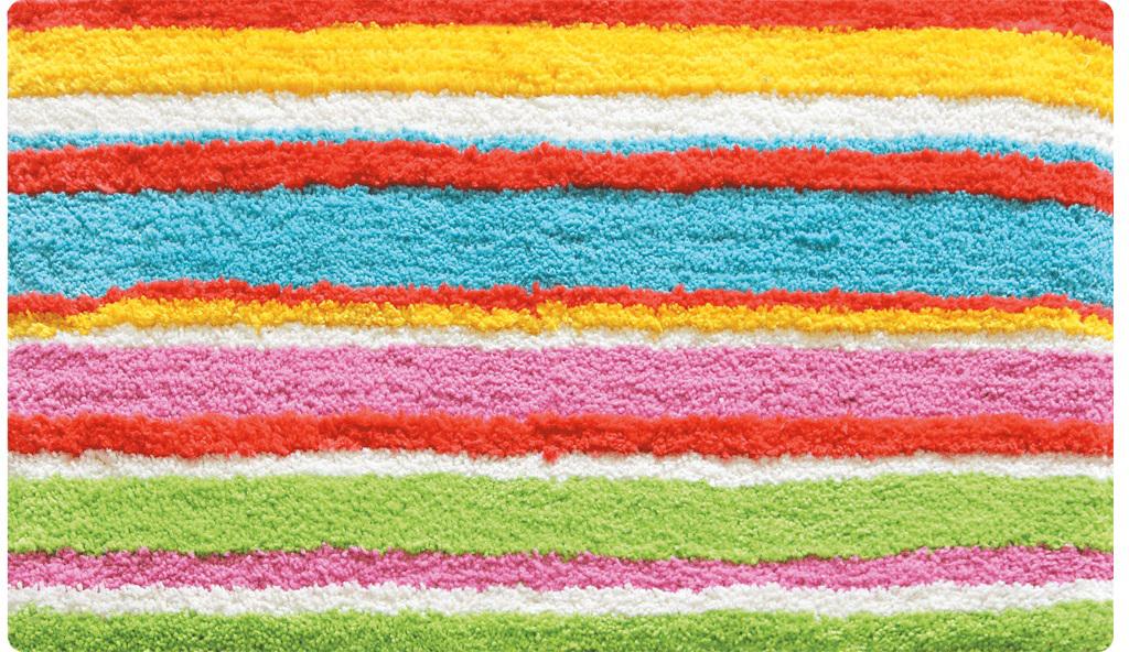 Коврик для ванной Iddis Summer Stripes, цвет: розовый, 50 х 80 см коврик iddis 402a580i12