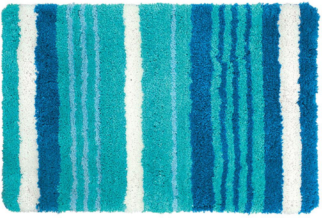 Коврик для ванной Iddis Blue Horizon, цвет: синий, 60 х 90 см301M690i12Коврик для ванной комнаты Iddis выполнен из микрофибры. Коврик имеет специальную основу, благодаря которой он не скользит на напольных покрытия в ванной, что обеспечивает безопасность во время использования. Коврик изготавливается по специальным технологиям машинного ручного тафтинга, что гарантирует высокое качество и долговечность.Высота ворса: 2,5 см.