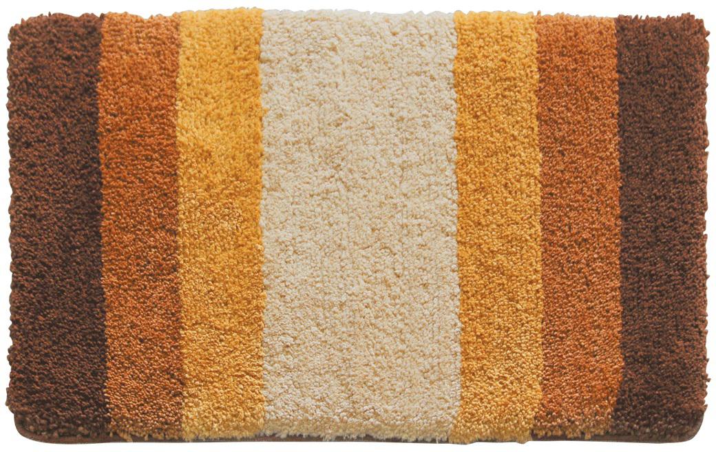 Коврик для ванной Iddis Beige Gradiente, цвет: бежевый, 50 х 80 см550M580i12Коврик для ванной комнаты Iddis выполнен из 100% полиэстера. Коврик имеет специальную латексную основу, благодаря которой он не скользит на напольных покрытиях в ванной, что обеспечивает безопасность во время использования. Коврик изготавливается по специальным технологиям машинного ручного тафтинга, что гарантирует высокое качество и долговечность.Высота ворса: 2,5 см.