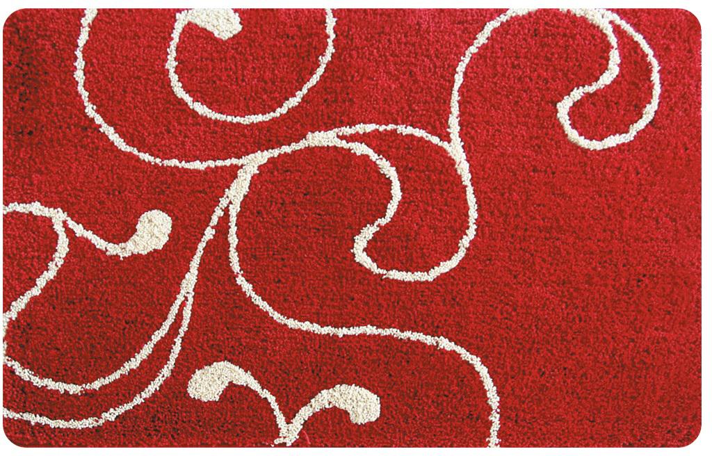 Коврик для ванной Iddis Flower Lace Red, цвет: красный, 60 х 90 см коврик iddis 620m580i12