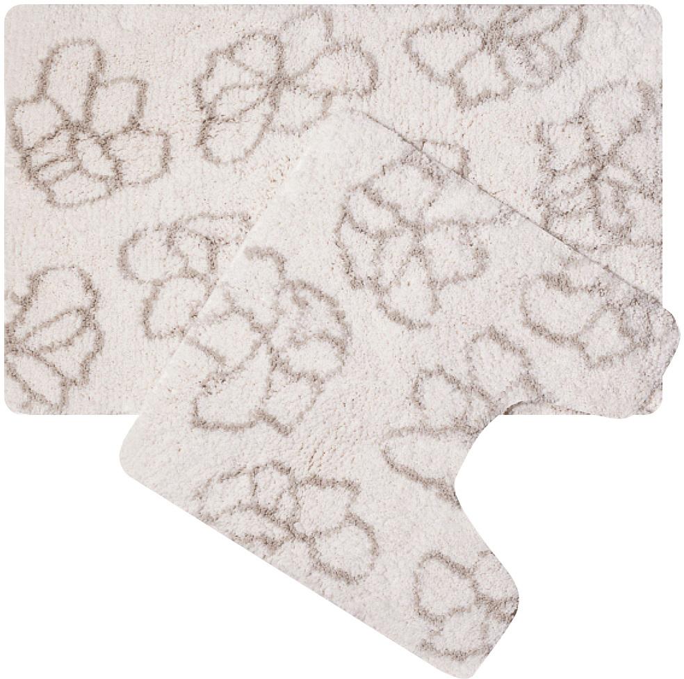 Набор ковриков для ванной Iddis Blessed Spring, цвет: бежевый, 50 х 80 см, 50 х 50 см, 2 шт гантели viking неопреновые 2x1 кг пара