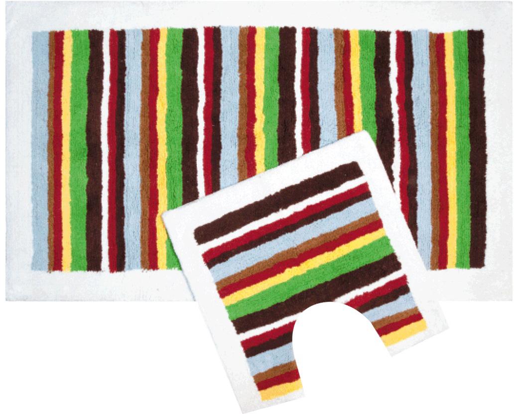 Набор ковриков для ванной Iddis Palette, цвет: коричнево-красный, 70 х 120 см, 50 х 50 см, 2 шт