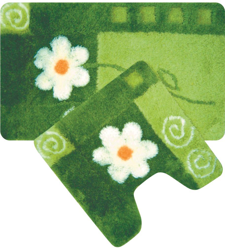 Набор ковриков для ванной Iddis Set Acrylic, цвет: зеленый, 50 х 80 см, 50 х 50 см, 2 шт