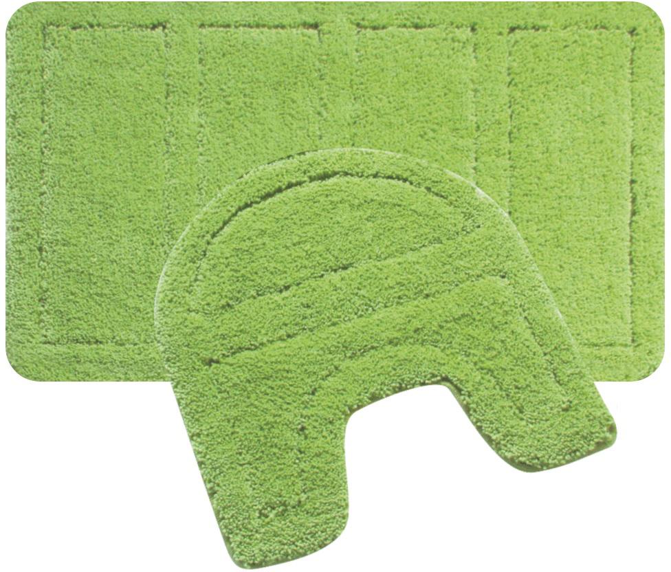 Набор ковриков для ванной Iddis Green Landscape, цвет: зеленый, 60 х 90 см, 50 х 50 см, 2 шт