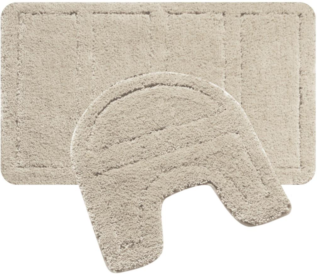 Набор ковриков для ванной Iddis Beige Landscape, цвет: бежевый, 60 х 90 см, 50 х 50 см, 2 шт