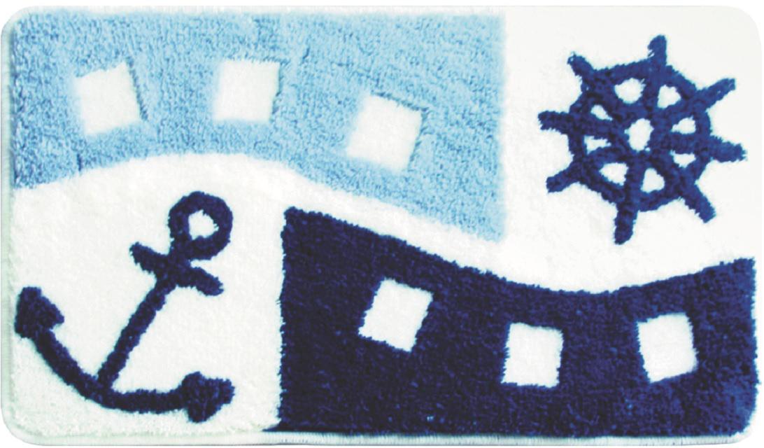 Коврик для ванной Milardo Sea Holiday, цвет: голубой, 40 х 70 см beach holiday sea pattern indoor outdoor area rug