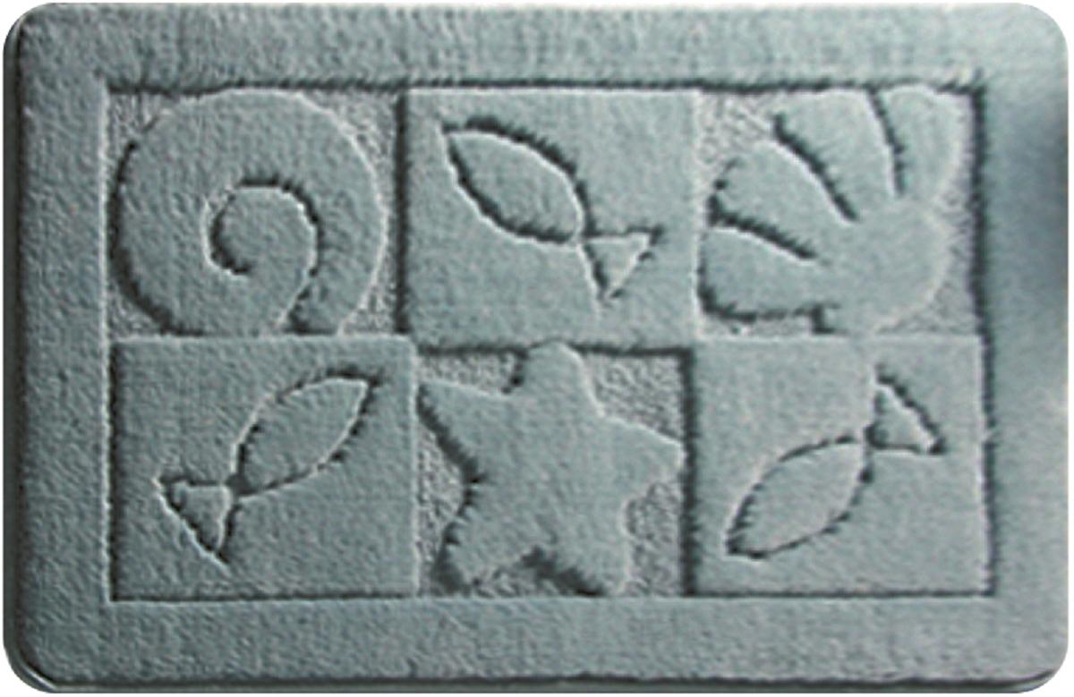 Коврик для ванной Milardo Reef, цвет: серый, 40 х 70 смMMI110MКоврик для ванной комнаты Milardo выполнен из микрофибры (100% полиэстер) на латексной основе. Коврик долго прослужит в вашем доме, добавляя тепло и уют, а также внесет неповторимый колорит в интерьер ванной комнаты.Высота ворса: 1,5 см.