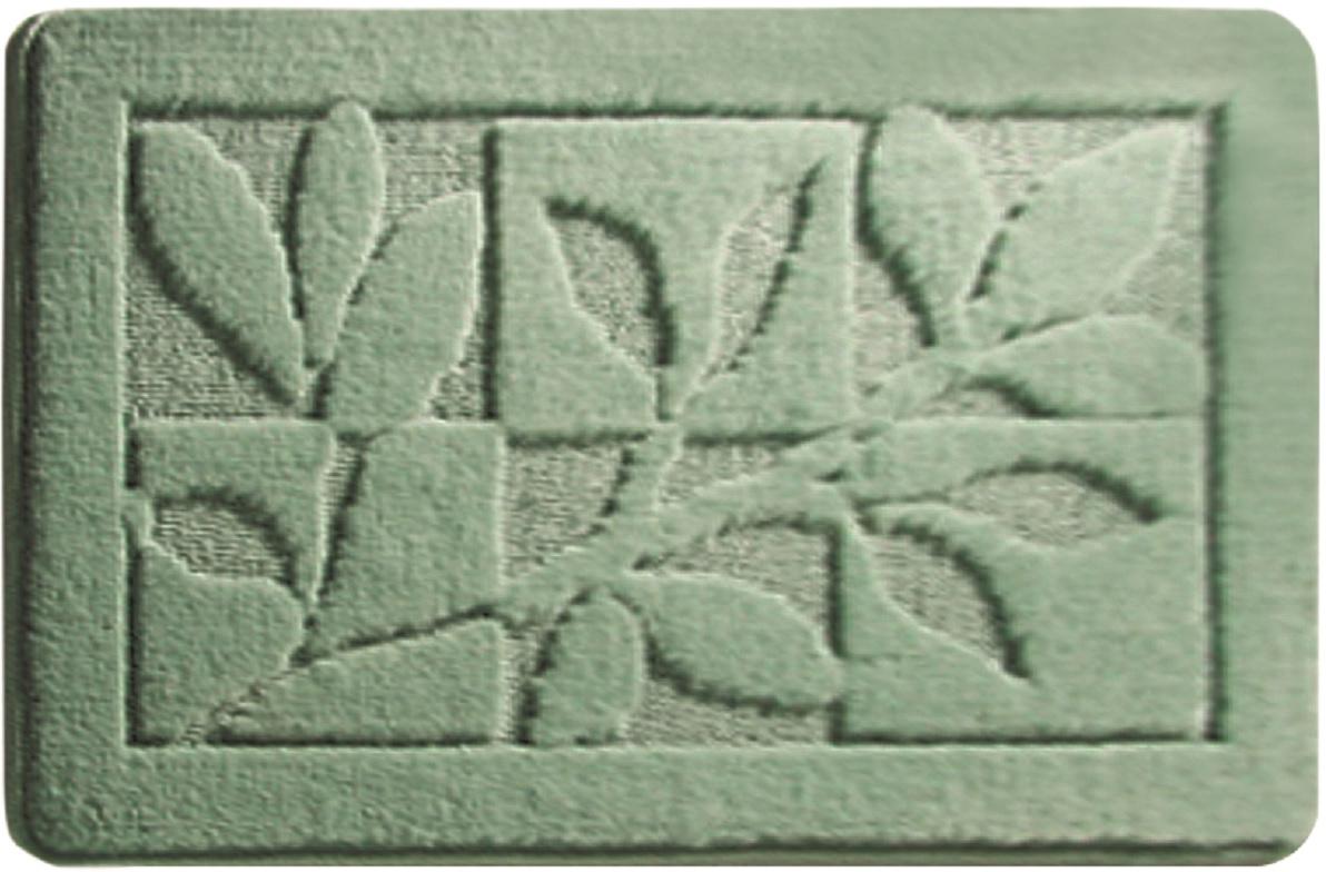 Коврик для ванной Milardo Green Forest, цвет: зеленый, 40 х 70 см babyono коврик противоскользящий для ванной цвет голубой 70 х 35 см