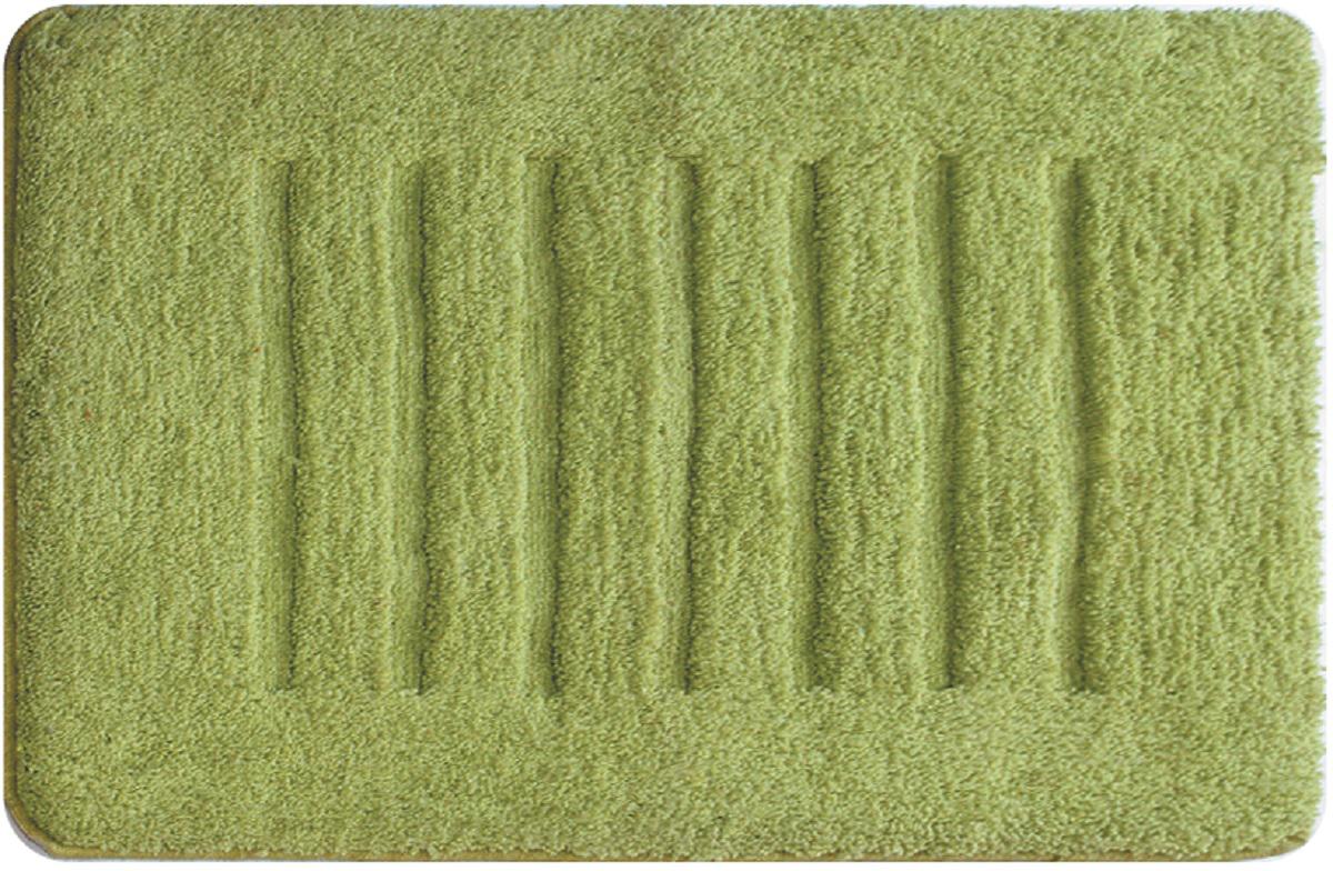 Коврик для ванной Milardo Green Lines, цвет: зеленый, 50 х 80 см babyono коврик противоскользящий для ванной цвет зеленый 55 х 35 см
