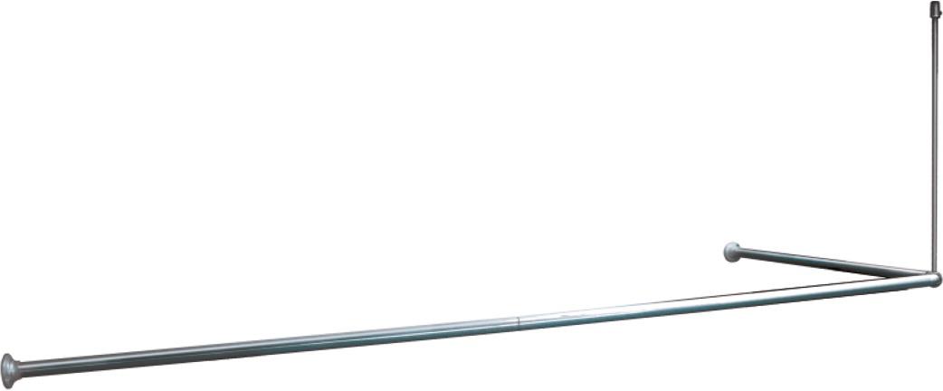 Карниз для ванной Iddis, угловой, цвет: глянцевый хром, 90 х 90 х 90 (90 х 180) см050A200I14Угловой карниз Iddis изготовлен из алюминия с покрытием из ПВХ. Карниз имеет крепление к потолку.предотвращая скольжение и повреждение стен в ванной. Выдвижная верхняя рама: 25 мм.Толщина: 0,5 мм.