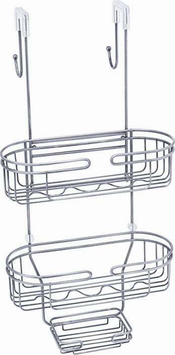 """Полка для ванной """"Fixsen"""" выполнена из нержавеющей стали. Подвешивается за крепления на стенку душевой кабины, при этом с обратной стороны оказываются два крючка для подвешивания полотенец или халата. Она пригодится для хранения различных принадлежностей, которые всегда будут под рукой. Благодаря компактным размерам полка подойдет для любого интерьера."""