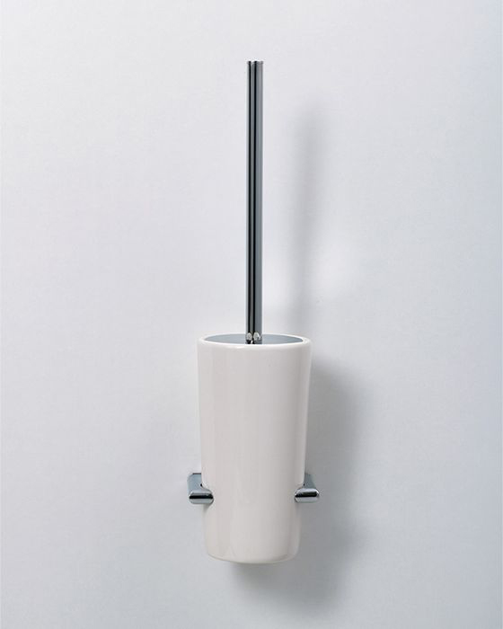 """Подвесной ершик для унитаза Sofita """"Forsa"""" - необходимый атрибут любого санузла. Металлический держатель, керамическую подставку и сам ерш с жесткой щетиной можно мыть с применением средств бытовой химии."""