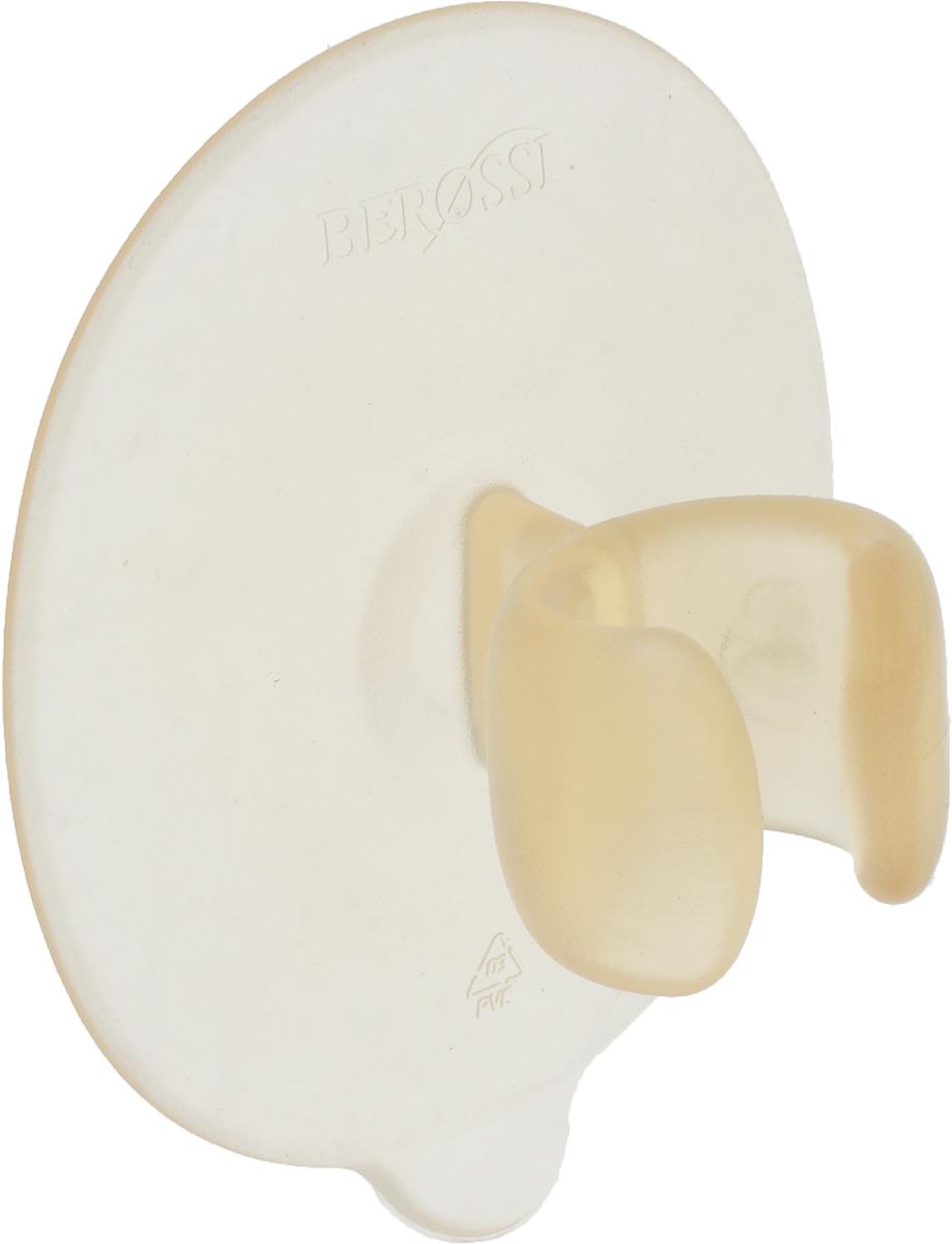 """Держатель для бритвенного станка Berossi """"Touch"""" - эстетичное и практичное решение для хранения бритвенного станка или зубной щетки в ванной комнате. Легко крепится к любой сухой и гладкой поверхности, при этом степень прилипания достаточно высока - выдерживает даже вес принадлежностей из металла. Продуманный дизайн изделия исключает возможность случайного выпадения станка, а обтекаемая форма всех элементов предотвращает скапливание и застой влаги.Размер: 8,6 х 7 х 4,5 см."""
