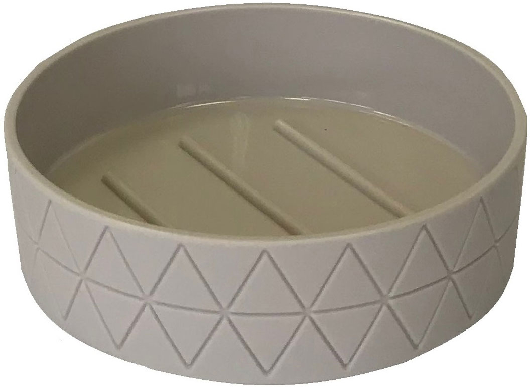Мыльница Vanstore Diamond, цвет: серо-бежевый314-04Мыльница серии Diamond, изготовлена из пластика с прорезиненным покрытием Soft-touch серо-бежевого цвета, отлично подойдет для вашей ванной комнаты. Создаст особую атмосферу уюта и максимального комфорта в ванной.