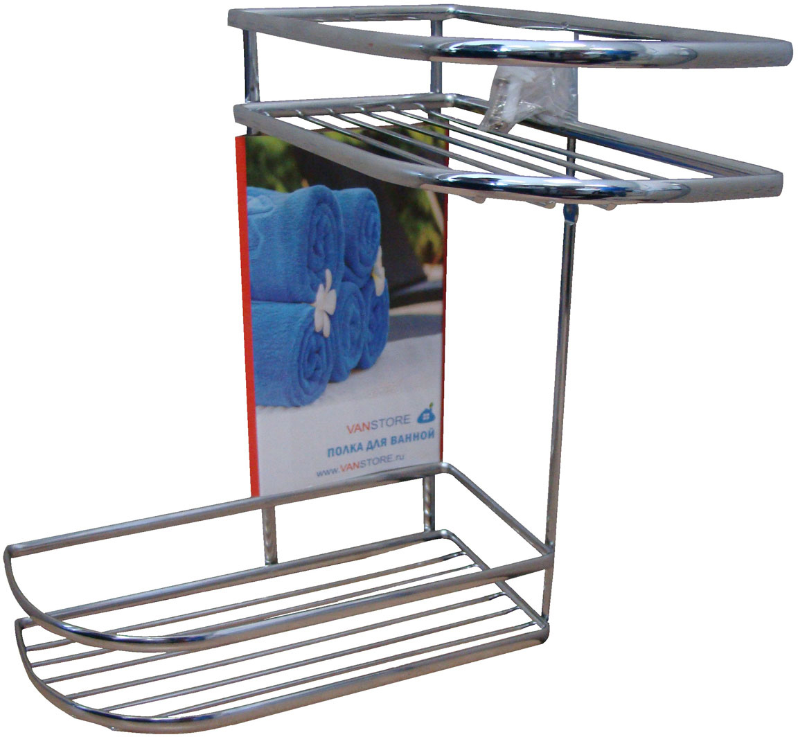 Полка для ванной комнаты Vanstore Comfort, цвет: хром полка для ванной vanstore с держателем для полотенец 60 см х 24 5 см х 18 см