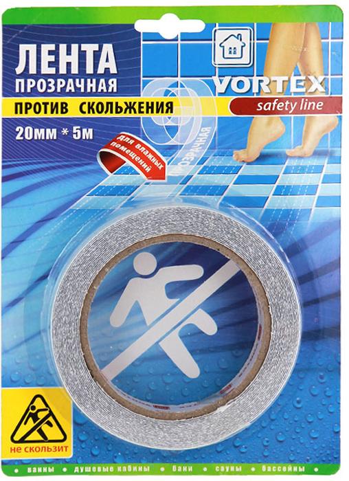 Лента противоскользящая Vortex для влажных помещений, прозрачная, 20 мм х 5 м ваза mughal l 20 х 20 х 30 см