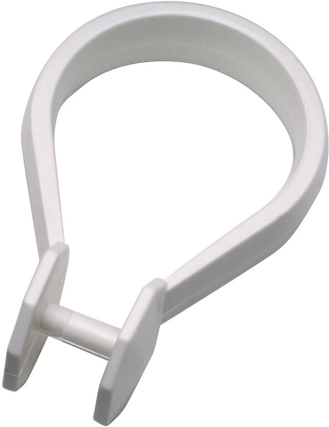 Набор колец Duschy для шторок ванной комнаты, 12 шт, цвет: белый набор форм для желе и заливного едим дома 12 5 х 1 5 см 5 шт