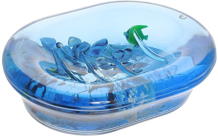 """Оригинальная мыльница """"Морские рыбки"""", изготовленная из прозрачного пластика, отлично подойдет для вашей ванной комнаты. Внутри мыльницы гелиевый наполнитель с маленькими ракушками, рыбками и веточками. Такая мыльница создаст особую атмосферу уюта и максимального комфорта в ванной. Характеристики:   Материал: пластик, акрил, гелиевый наполнитель. Цвет: голубой, белый, черный. Размер мыльницы: 13,5 см х 10 см х 3,5 см. Производитель: Швеция. Изготовитель: Китай. Размер упаковки: 14,5 см х 10,5 см х 4 см. Артикул: 334-04."""