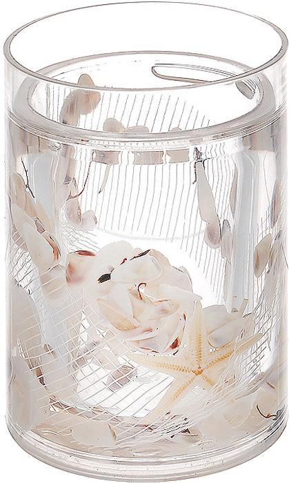 Стакан Звезда338-01Стакан Звезда, изготовленный из прозрачного пластика, отлично подойдет для вашей ванной комнаты. Внутри стакана гелиевый наполнитель с маленькими ракушками, морскими звездами и белой сеткой. Стакан создаст особую атмосферу уюта и максимального комфорта в ванной. Характеристики: Материал: пластик, акрил, гелиевый наполнитель. Цвет: белый, желтый, черный. Диаметр стакана по верхнему краю: 7 см. Высота стакана: 10,5 см. Производитель: Швеция. Изготовитель: Китай. Размер упаковки: 8 см х 8 см х 13 см. Артикул: 338-01.
